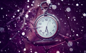 Picture time, lilac, watch, bokeh, time
