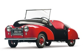 Picture car, red, old, classic, automobiles, french, classical, Prochie Atlas Babycar, license plate, motor car, Prochie …