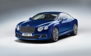 Picture Bentley, Continental, Blue, Speed, (2013)