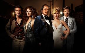Picture Bradley Cooper, Jennifer Lawrence, Jeremy Renner, Christian Bale, Amy Adams, American Hustle, Scam American