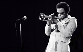 Picture music, jazz, pipe, microphone, musician, jazz musician, trumpeter, Freddie Hubbard