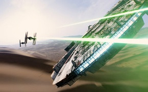 Wallpaper Star Wars, starship, Han Solo, Millennium Falcon