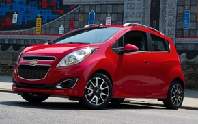 Picture city, Chevrolet, Red, Chevy, 2013, spark