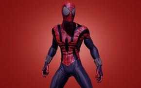 Wallpaper red, red, marvel, comic, comics, Spider-man, Spider-Man