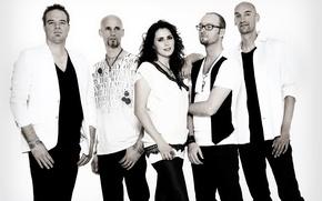 Picture group, Within Temptation, Sharon den Adel, Sharon den Adel, Robert Vesterholt, vocalist, Robert Westerholt