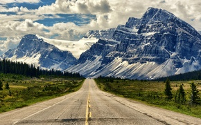 Picture road, landscape, mountains, Canada, Albert, Banff National Park, Alberta, Banff, Icefields Parkway