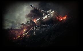 Picture World of tanks, World of Tanks, Tiger P, Tiger I(Tiger H), German tiger