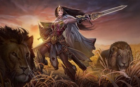 Picture Leo, Wonder Woman, DC Comics, Princess Diana