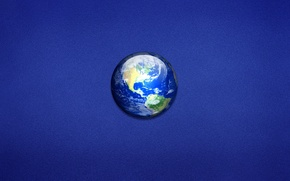 Picture blue, earth, planet, minimalism