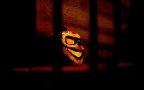 Wallpaper the darkness, Halloween, pumpkin, Halloween