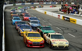 Picture Ford, Chevrolet, Race, Machine, Dodge, Toyota, A lot, NASCAR, Nascar