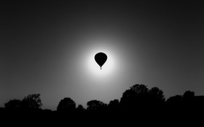 Picture light, ball, black and white, air