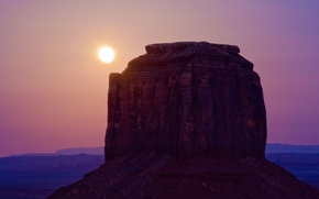 Picture the sun, landscape, nature, rock, desert, mountain, canyon