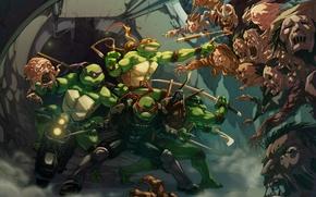 Picture Teenage mutant ninja turtles, TMNT, Raphael, Leonardo, Donatello, Teenage Mutant Ninja Turtles, Michelangelo, Shredder, Zombie …