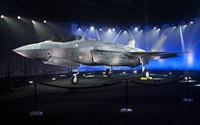 Wallpaper F-35, Lightning II, fighter, exhibition, bomber