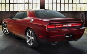 Picture background, Dodge, Challenger, rear view, Muscle car, Muscle car, R T, 100th Anniversary