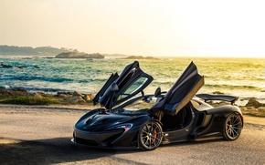 Picture McLaren, Sky, Sea, McLaren P1, Adam Bornstein Photography