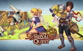 Wallpaper shopping, Royal Quest, Katauri Interactive, purchase, girl, guy