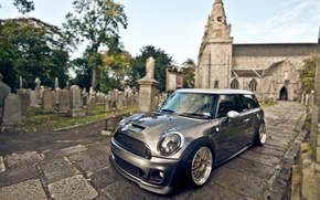 Picture temple, Mini Cooper, europe, the churchyard, stance, bagged, thacko san