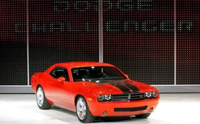 Wallpaper Concept, red, Dodge, Challenger