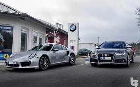 Picture Audi, 911, Porsche, RS6, 991 Turbo S
