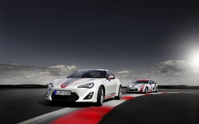 Picture Auto, Turn, Toyota, Toyota, GT86, In Motion, Two, GT 86, Cup Edition