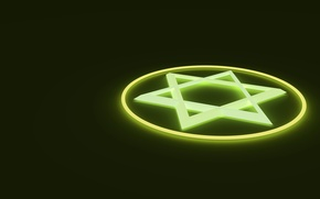 Picture light, emblem, the star of David, hexagram