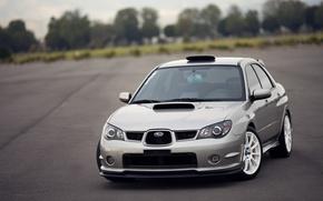 Picture cubes, Subaru, Impreza, WRX, silver, Subaru, Impreza, silvery, STi