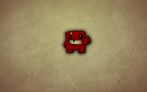 Picture minimalism, minimalism, games, character, Super, Meat, Boy