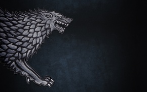 Picture the direwolf, Game of Thrones, game of Thrones, Iron wolf