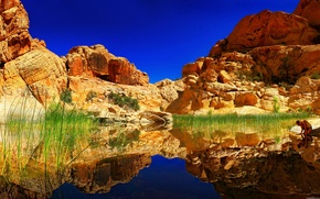 Picture water, nature, reflection, rocks