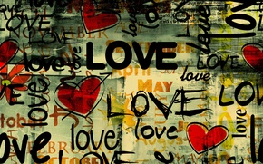 Picture love, style, labels, heart, art, Grunge Love style, Grand, months