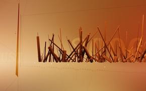 Wallpaper sticks, line, 2006