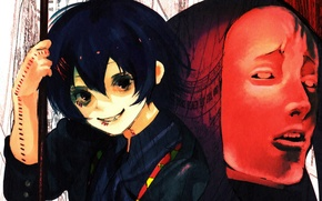 Picture cuts, grin, scars, Juuzou Suzuya, Tokyo ghoul, Red Mask