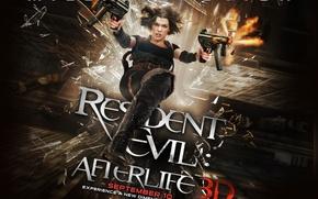 Wallpaper Milla Jovic, Resident evil 4, shoots, the film