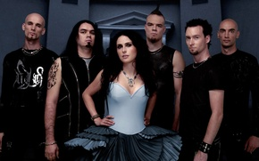 Picture dark, metal, blue, Rock, promo, symphonic, sharon den adel, within temptation, the silent force