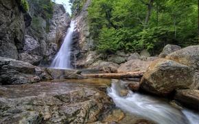 Picture nature, stones, waterfall, USA, Glen Ellis, New Hampshire
