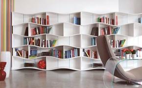 Picture design, interior, library