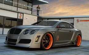 Picture car, grey, car, sports, Bentley Continental GT