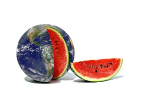 Picture background, earth, watermelon