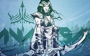 Picture art, league of legends, ashe, archer