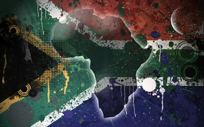 Wallpaper island, flag, Texture, South Africa, South Africa