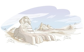 Wallpaper figure, Giza, Sphinx, Egypt, pyramid, egypt