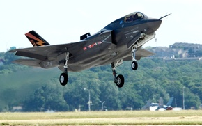 """Picture the plane, the rise, fighter-bomber, """"Lockheed-Martin"""", F-35 «Lightning II», «Lockheed Martin», F-35 Lightning II)"""