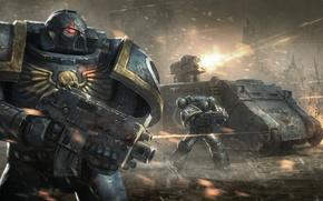Picture tank, warhammer, war, space marine, assault, warhammer 40,000