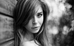 Picture girl, photo, black and white, beautiful, Anastasia, Nastya, Panteleeva