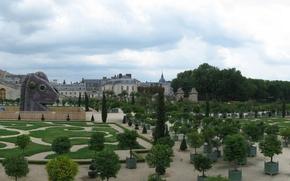 Picture Francia, castillo, trees, Versalles, Invernadero, palace