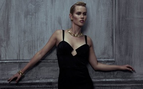 Wallpaper figure, black, Claire Holt, hairstyle, Already, photographer, Ben Cope, the wall, dress, pose, Claire Holt, ...