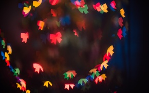 Picture holiday, new year, lights, bokeh