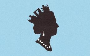 Picture paper, texture, profile, Queen